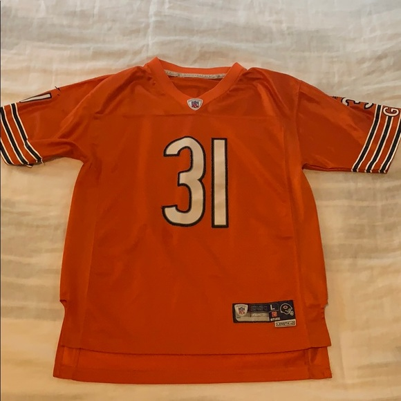 sports shoes d68b6 a3c27 Chicago bears Nathan Vasher orange jersey youth L